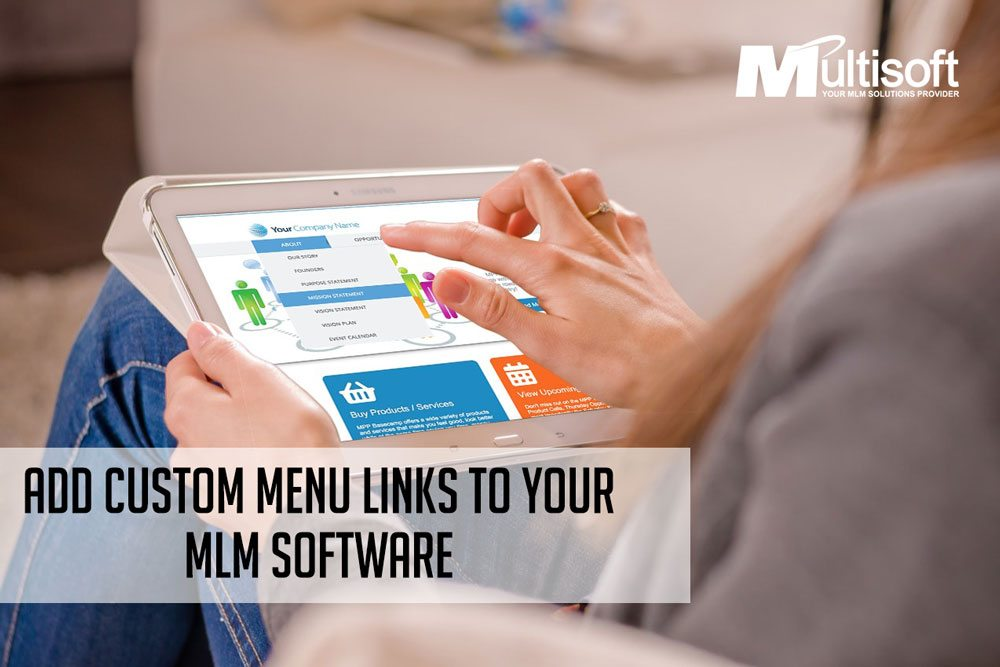 Add Custom Menu Links to Your MLM Software